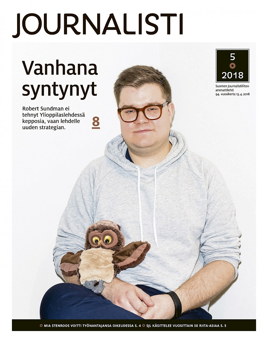 Journalisti 5/2018 kansi