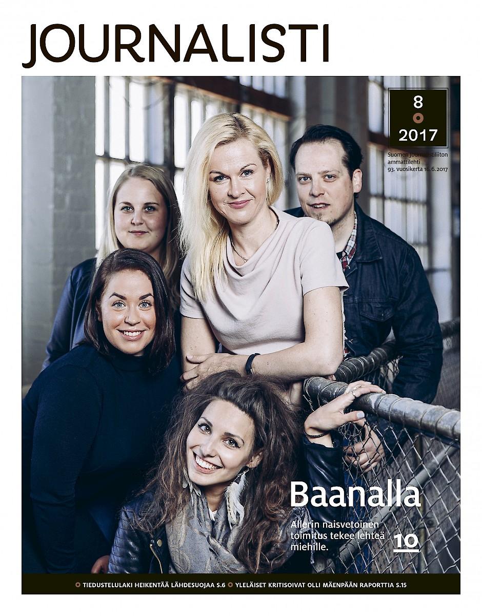 Journalistin kansi 8/2017