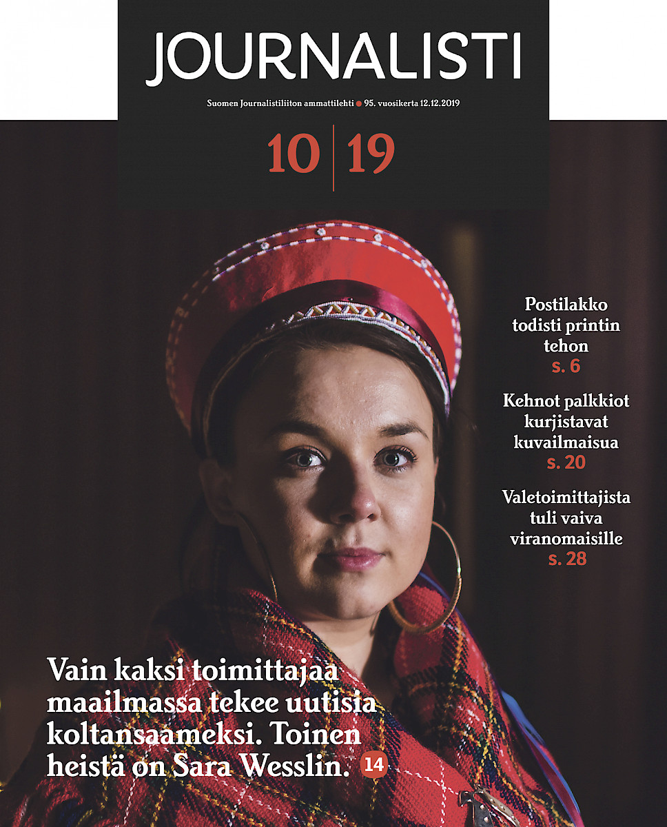 Journalisti 10/2019 kansi