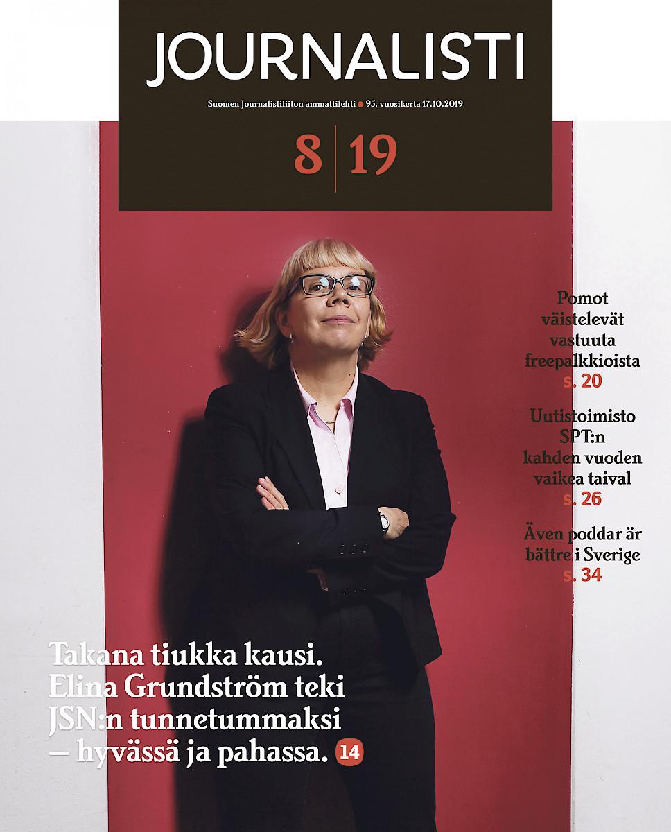 Journalisti 8/2019 kansi