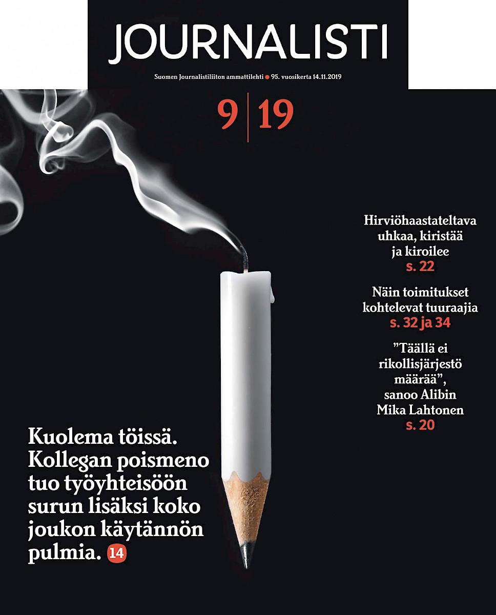 Journalisti 9/2019 kansi