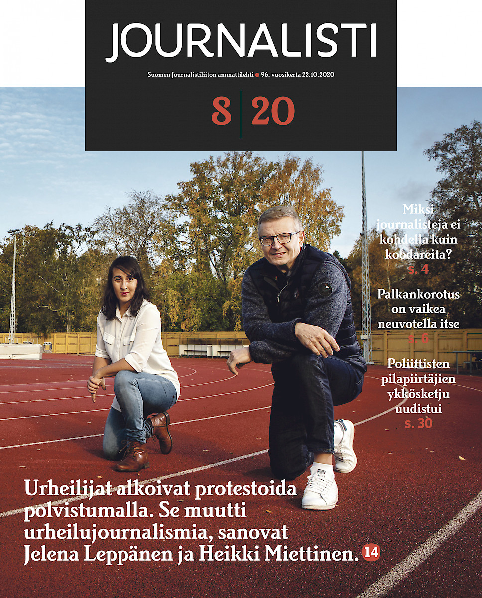 Journalisti 8/2020 kansi