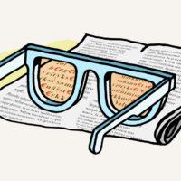 lehti ja silmälasit