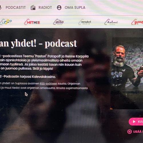 Otetaan yhdet! -podcastin julkaisu Suplassa Teemu Potapoffin kuvaamana